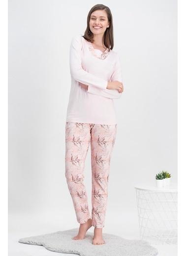 Arnetta Arnetta Leaf Pink Pembe Kadın Pijama Takımı Pembe